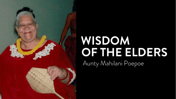 Photo of Aunty Mahilani Poepoe Hawaiian elder